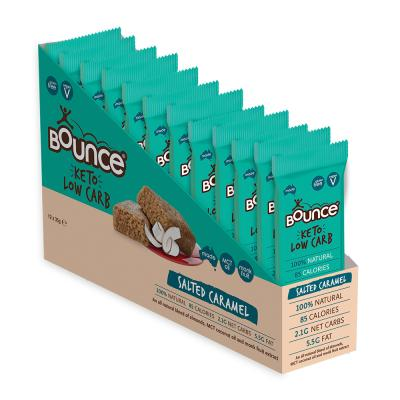 Bounce Keto Low Carb Bar Salted Caramel 35g x 12 Display